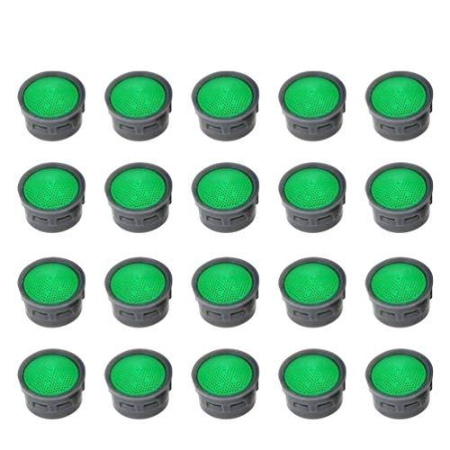 TOPBATHY - 20 boquillas de 21 mm para aireador de chorros, filtros para el ahorro hídrico, filtros pulidos para cocina, baño, lavabo, grifo, piezas de repuesto