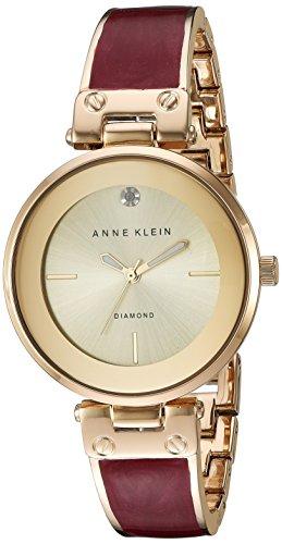 Reloj Anne Klein con detalles de diamantes para Mujer 34mm, pulsera de Acero Inoxidable