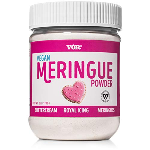 Vör Vegan Meringue Powder (6oz) | Easy Egg-Free Baking & Decorating | Certified Kosher & Non GMO
