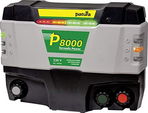 Patura Weidezaungerät P 8000 Tornado Power - 230 Volt Technologiesprung - höchste Spannungen am Zaun auch bei stärkstem Bewuchs - Extreme Anforderungen, Lange Zäune mit Bewuchs