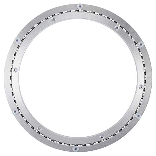 NiceDD Heavy-Duty 12 Inch Aluminum Lazy Susan Ring/ 360° Turntable with Single-Row Ball Bearings, Bearings Swivel Plate Turntable on Dining-Table Furniture Hardware Turntable