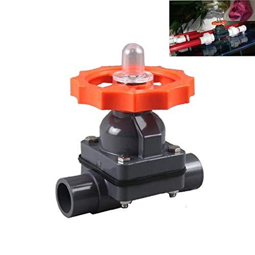 Wgd FA 1pcs OD 20~110mm PVC-Tor-Membranventil, PVC-Kunststoff-Membranventil, Aquariumbehälter Bewässerung Adapter Garten Wasseranschlüsse Industriearmaturen (Size : OD110mm(DN100))