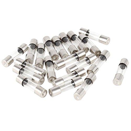Fusible de tubo de cristal - SODIAL(R)20pzs Fusible de tubo de cristal...