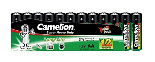 Camelion 10101206 Super Heavy Duty Batterien R6/ Mignon/ 12er Pack Schrumpfverpackung