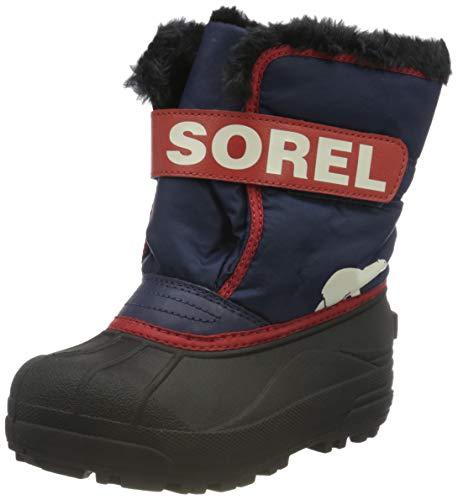 Sorel Unisex-Kinder-Winterstiefel, CHILDRENS SNOW COMMANDER, Lila/Rosa (Nocturnal, Sail Red), Größe: 26