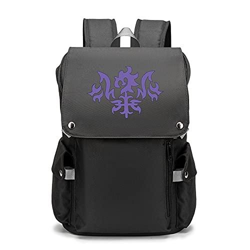 Fate Anime | Mochila juvenil con patrones personalizados para portátil de viaje, mochilas escolares para camping al aire libre, Opciones 3, Yellow,