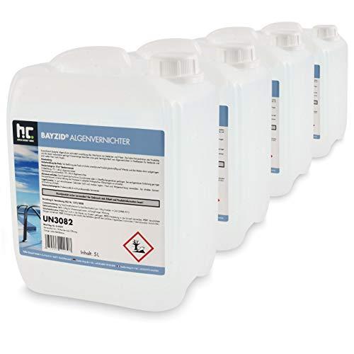 Höfer Chemie BAYZID 4 x 5 L (20 Litres) Anti-algues pour piscine - effet rapide contre les algues -...