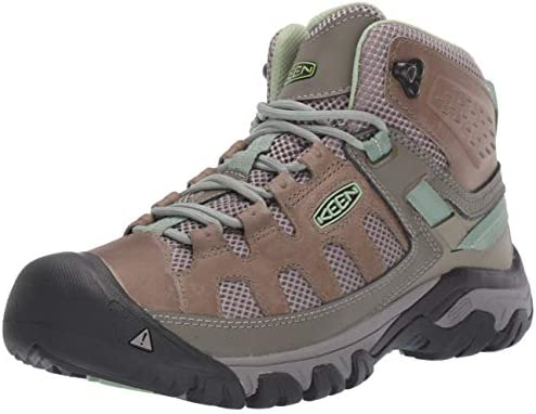 KEEN womens Targhee Vent Mid Hiking Boot Fumo Quiet Green 7 5 US product image