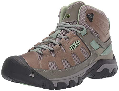 KEEN Women's Targhee Vent MID Hiking Boot, Fumo/Quiet Green, 7 M US