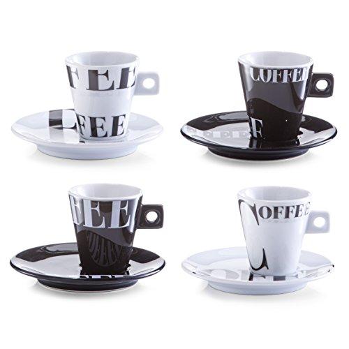 Zeller 26540 Espresso-Set, 8-tlg. Coffee style, Porzellan