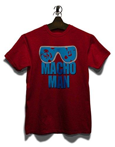 shirtminister Macho Man T-Shirt Bordeaux-Maroon L