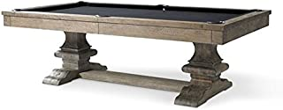Plank and Hide Beaumont 8' Pool Table in Silver Oak Finish w/Accessories-Includes Choice of Color Felt