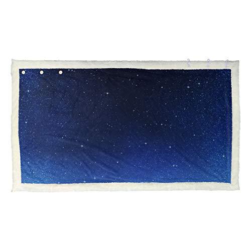 Mooie nacht sterrenhemel sjaal voor dames, bedrukt, sjaals, enveloppen, 53 x 30 inch met 3 knoppen voor bank buiten, enveloppen en sjaals, draagbaar, voor jongeren