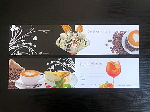 200 x hochwertige Gutscheine doppelt für Eiscafes, d1
