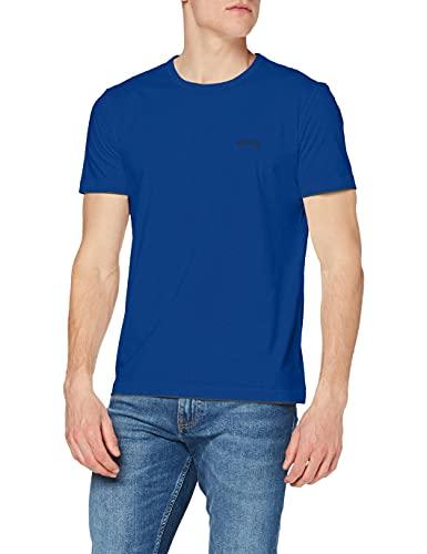 BOSS Herren Tee Curved T Shirt, Blau (Open Blue 493), S EU