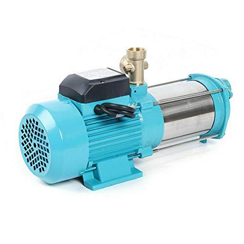 1300W Edelstahl Kreiselpumpe Hauswasserwerk 6000L/h 9,8 bar Wasserpumpe Gartenpumpe Selbstansaugend mit Druckschalter