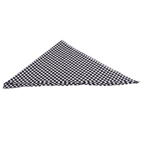 D DOLITY Asciugamano Da Collo Fazzoletto Cuoco Abbigliamenti Cameriere per Cucina Caffettiera Cotone - plaid bianco, 5