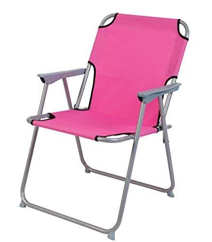 Spetebo Piccolo Klappstuhl in pink - praktisch und bequem - Ideal für unterwegs!
