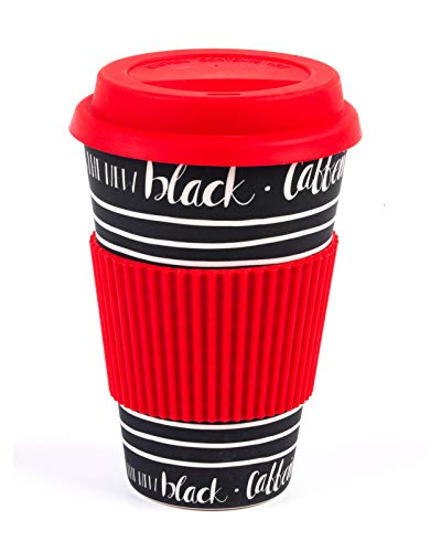 Cambridge® CM05512 Caffeine is The New Black Reusable Travel Mug