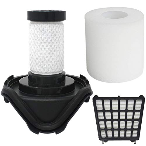 LLHome 1Pack (HEPA Filters&Foam Filters&Pre-Motor Filters) Replacement Filters for Shark Flex DuoClean Corded Ultra-Light Vacuum HV390, HV391, HV392,Replaces Parts # 461FFJV390 and 464FFJV390.