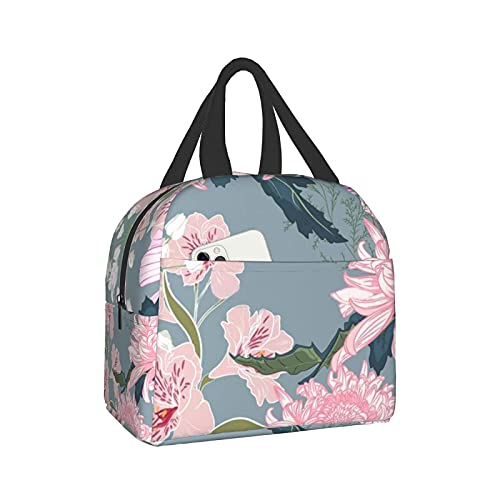 Chrysanthemum Insulated Lunch Bag Reusable Lunch Box Waterproof Insulated Lunch Bag , Suitable For Adults Children, Work, Picnics, Outdoor Activities And Other Activities