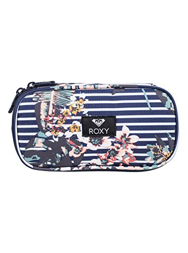 Roxy Take Me Away Estuche Escolar, Mujer, Blanco/Azul (Medieval Blue Boardwalk), Talla Única