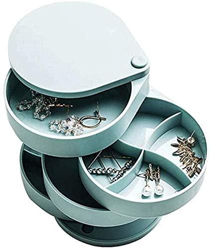 AJIAHONG Se Utiliza para almacenar Joyas, Almacenamiento Tridimensional, clasificación de Cuatro Capas, Caja de joyería, diseño Giratorio