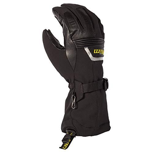 KLIM Fusion - Guantes de esquí para moto de nieve para hombre, color negro