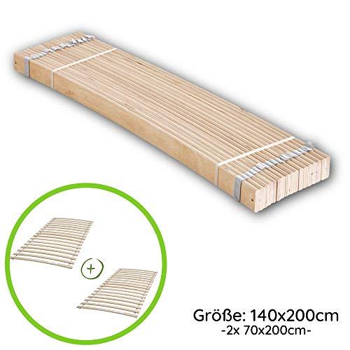 Stella Trading Rollrost aus stabilen Federleisten für Liegefläche 140 x 200 cm - Hochwertiger Lattenrost aus Birkenschichtholz - 140 x 1 x 192,5 cm (B/H/T)