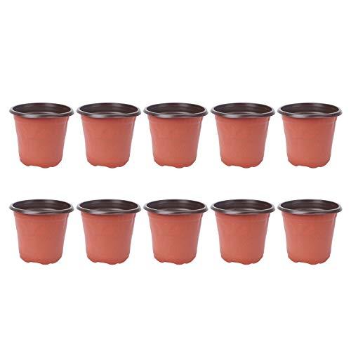Yarnow Plastic Plant Pot Flower Nursery Pots Starter Pot for Seedling Little Garden Pots to Re-pot Succulents And Small Plants (10 Pack)