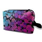Azul y Rosa Forma Libre con Arte Texture255 Higiene Bolsa de Viaje Entre Mujeres y Hombres