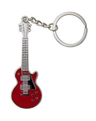 Llavero de guitarra estilo eléctrico, 6 colores a elegir (rojo)