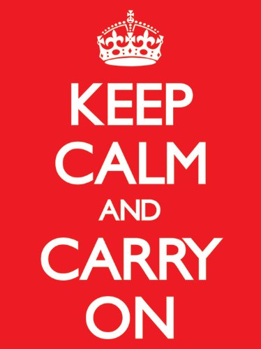 Pyramid International Keep Calm And Carry On, Stampa su Tela, Red 60 cm x 80 cm [Lingua Inglese]