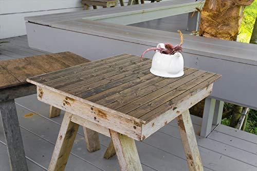 Wallario Aufkleber Selbstklebende Garten-Tisch-Decke - Holzpaneelen in grau braun - Holzmuster mit Maserung in 70 x 70 cm