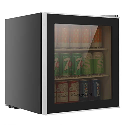 ROVSUN 60 Can Beverage Refrigerator, Mini Cooler with Removable Shelves, Temperature Adjustable...