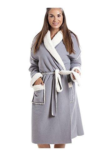 Camille Accappatoio in Pile Morbido di Vario Stile e Colore per Donna 46-48 Stay Soft Grey