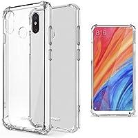 Moozy Funda Silicona Antigolpes para Xiaomi Mi Mix 2S - Transparente Crystal Clear TPU Case Cover Flexible