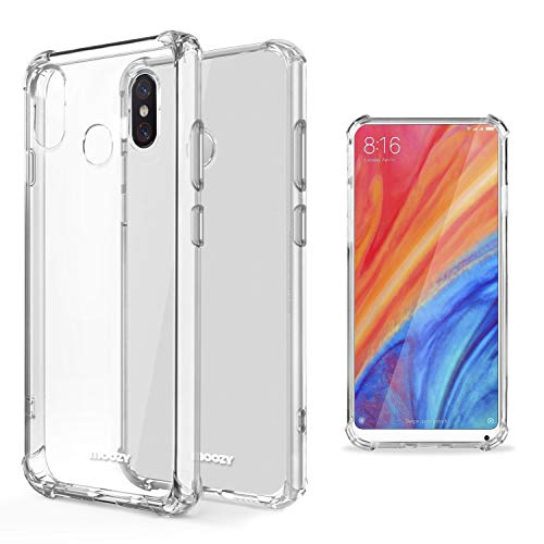 Moozy Funda Silicona Antigolpes para Xiaomi Mi Mix 2S - Transparente Crystal Clear TPU Case Cover Flexible