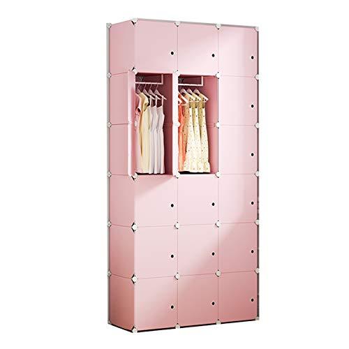 ZWYSL Armario Modular Estanteria Cubo Organizador para Ropa Balda Armario Armario De Plastico Snap Fijo Organizar Gabinetes De Almacenamiento (Size : 18 Doors)