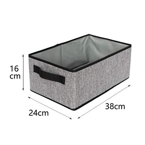77SRF Cotton And Linen Storage Box, Washable, Foldable, Brown/White/Gray/Yellow (24x38x16cm) SRFP (Color : Yellow)