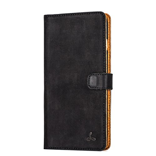 iPhone 6S Plus Case, Genuine Luxury Leather Folio Wallet with Card Slots...