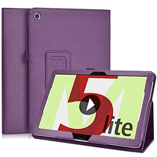 KATUMO Hülle für Huawei Mediapad M5 Lite 10.1 Zoll Schutzhülle Ultra Dünn mit stifthalter Cover für Tablet Huawei M5 Lite 10 Tasche