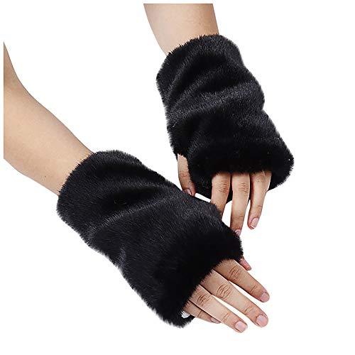 Sale!! GOTDCO. Winter Warm Half-Finger Gloves for Women, Ultra Plush Women Hand Warmers Fleecy Cold ...