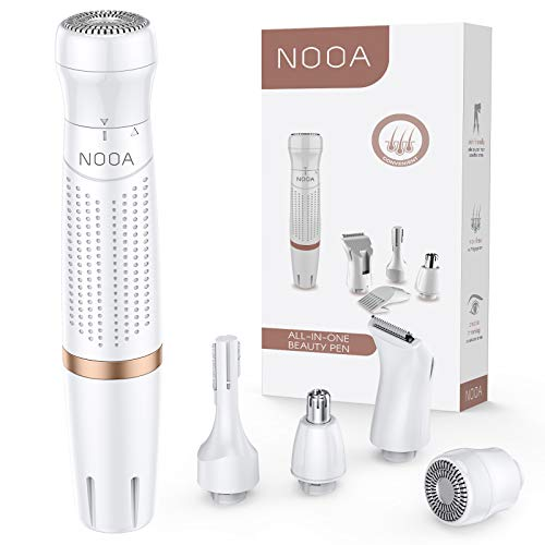 NOOA Bikini Trimmer for Women, 4 in 1 Electric Ladies Shaver Facial Hair Painless Multi Grooming Kit Cordless Wet and...