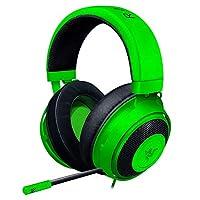 Razer Kraken Green ゲーミングヘッドセット + THX USBオーディオコントローラー 3.5mm/USB 7.1 立体音響対応 P...