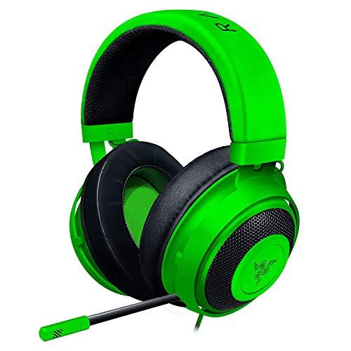 Razer Kraken Green ゲーミングヘッドセット + THX USBオーディオコントローラー 3.5mm/USB 7.1 立体音響対...