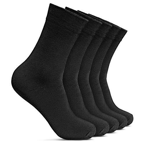 ROYALZ Calcetines de negocios para hombres 5 pares de calcetines de traje casual y de tiempo libre, largo 5-pack