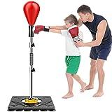 DXIN Saco De Boxeo Bola De Boxeo, para Niños Y Adultos Alivio del Estrés Y Fitness Altura Ajustable 143-180cm Saco De Boxeo para Niños Niños Adultos Adolescentes Gimnasio En Casa