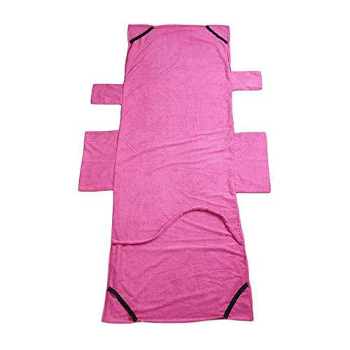 WEQQ Lounger Mate - Toalla de Playa para el Sol, Cubierta para Silla, salón de jardín con Bolsillos (Rosa roja)