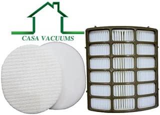 Casa Vacuums Shark Navigator Professional Compatible Filters. Fits Shark NV70, NV80, NV90, NV95, UV420 Vacuums. Replaces Part # XFF80 & XHF80. 1 HEPA Filter Plus Foam & Felt Filter Kit